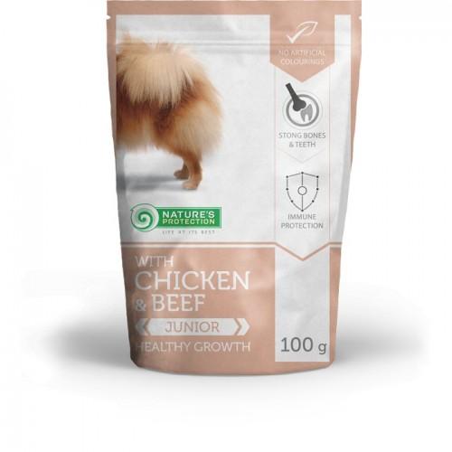 NP Mini Junior Beef & Chicken Dog 100g sasz.