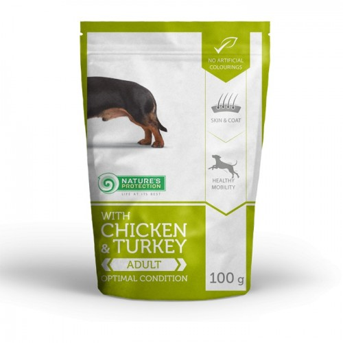 NP Mini Adult Chicken & Turkey Small Dog 100g sasz. (kurczak indyk)