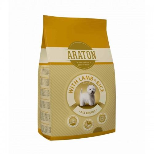 ARATON Dog Adult Lamb & Rice Dla dorosłych psów 15kg