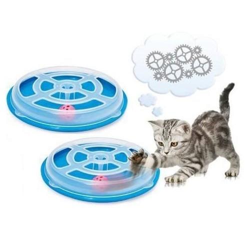 Zabawka gonitwa za piłką dla kotka