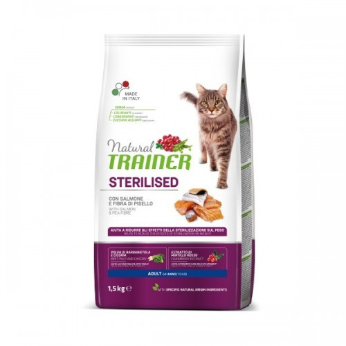 TRAINER NATURAL CAT STERILISED SALMON 10 kg (łosoś)