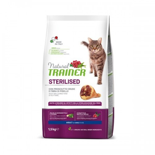 TRAINER NATURAL CAT STERILISED HAM 7,5 KG