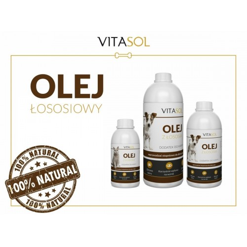Vitasol olej z łososia dla psa 100/250/500 ml
