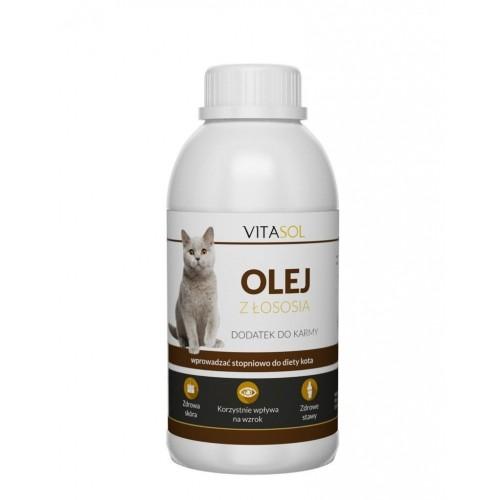 Vitasol olej z łososia dla kota 100 ml
