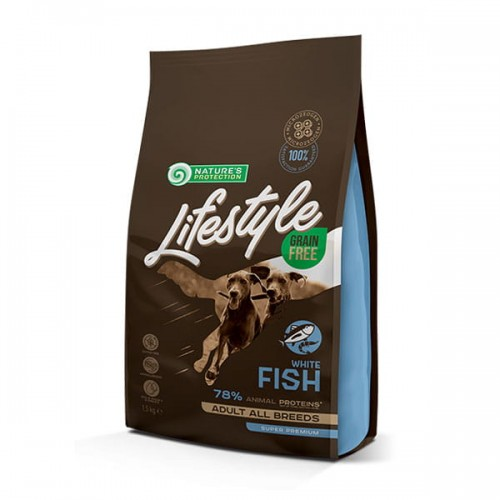Nature's Protection Lifestyle -Grain Free White Fish Krill Adult All Breeds