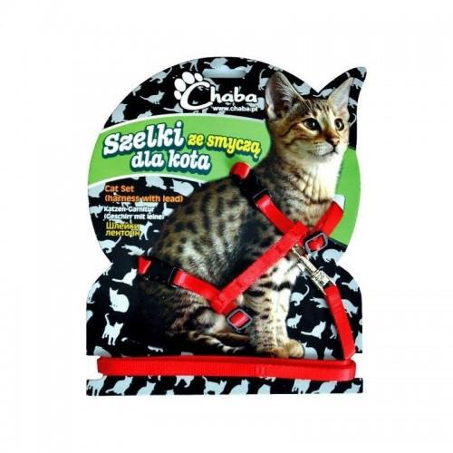 Szelki za smyczą dla kota