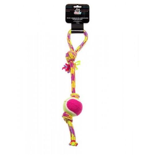 Zabawka dla psa -sznurek z piłką 35cm