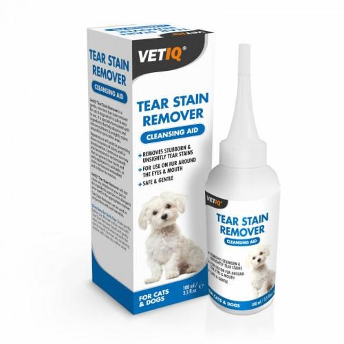 VetIQ Tear Stain Remover do usuwania przebarwień 100m