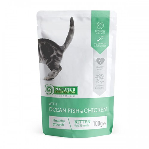 """Nature's Protection Kitten """"Healthy growth"""" Ocean Fish & Chicken 100g"""