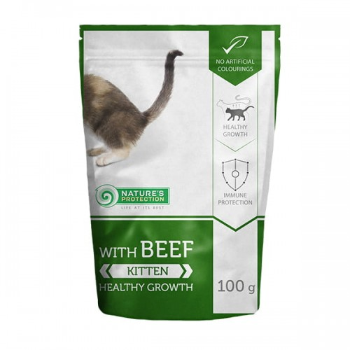 Nature's Protection Kitten Beef 100g
