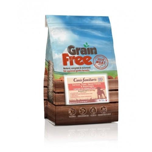 Grain Free - Karma bezzbożowa łosoś z pstrągiem, batatami i szparagami 2kg/12kg