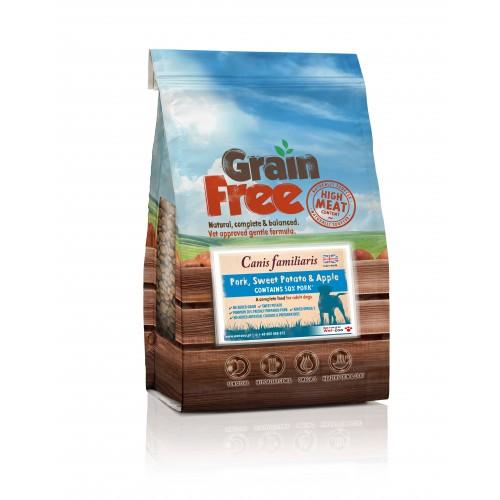 Grain Free - Karma bezzbożowa wieprzowina z batatami i jabłkiem 2kg/12kg