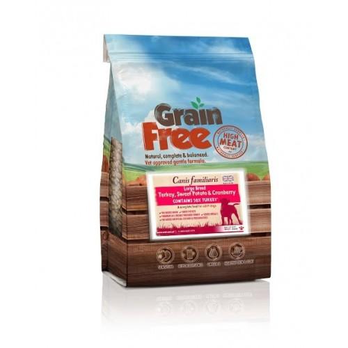 Grain Free - Karma dla psów dużych ras indyk z batatami i żurawiną 2kg
