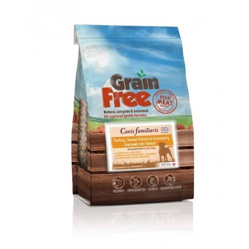Grain Free - Karma bezzbożowa Indyk z batatami i żurawiną 2kg/12kg