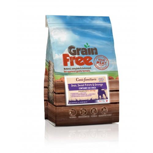 Grain Free - Karma bezzbożowa kaczka z batatami i pomarańczą 2kg/12kg