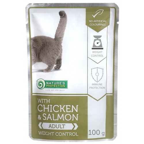 Nature`s Protection Weight Control Chicken & Salmon -KONTROLA WAGI 100g (kurczak łosoś )