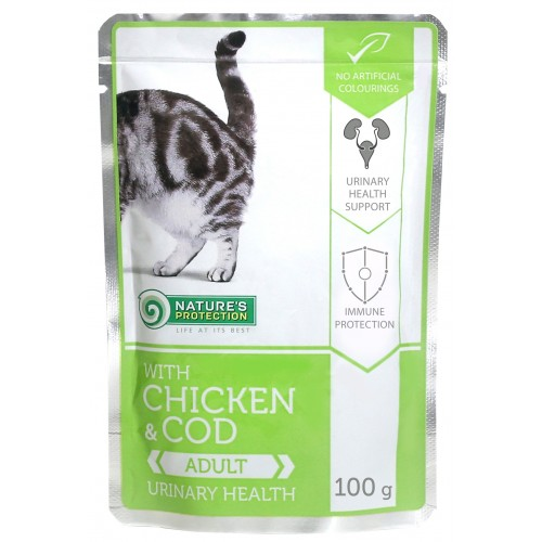 Nature`s Protecion Urinary Health Chicken & Cod UKŁAD MOCZOWY 100g (kurczak dorsz )