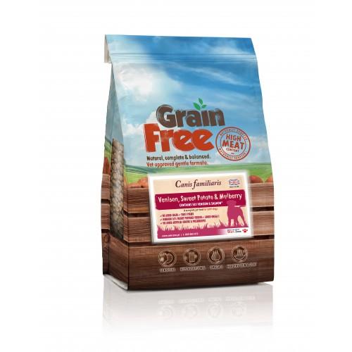 Grain Free - Karma dla psów dziczyzną z batatami i morwą 12 kg