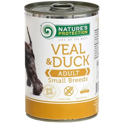 Nature's Protection Veal & Duck Adult Small Breed 400g (cielęcina, kaczka)