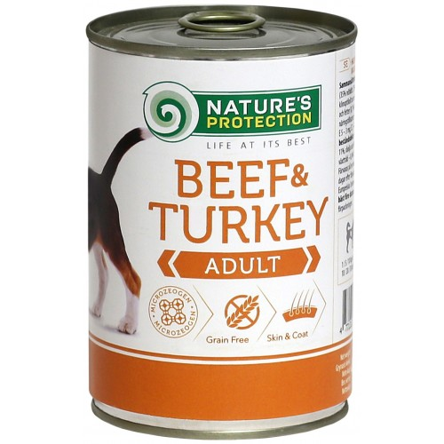 Nature's Protection Adult Beef & Turkey 400g (wołowina, indyk)
