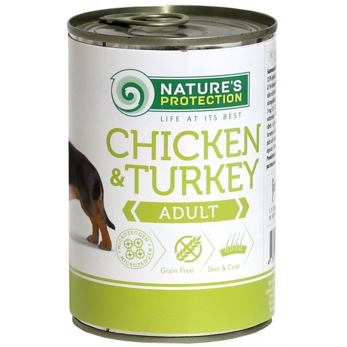 Nature's Protection Adult Chicken & Turkey 400g (kurczak, indyk)