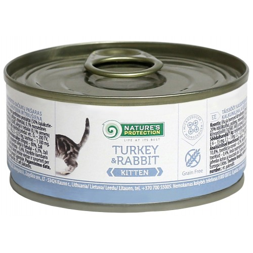 Nature`s Protection Kitten Turkey & Rabbit 100/400g (kurczk, królik)