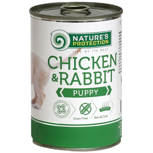 Nature's Protection Puppy chicken & rabit 400g (kurczak królik )
