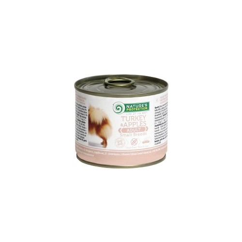 Nature's Protection Adult Małe rasy Indyk & Jabłko 200g