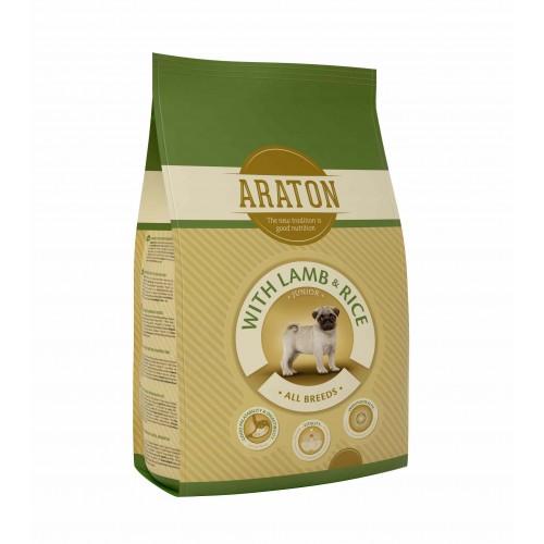 ARATON Dog Junior Lamb & Rice Dla młodych psów15kg